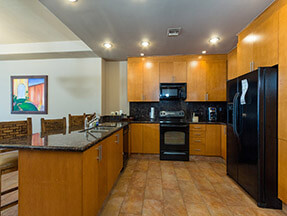 furnished kitchen sandy beach condo