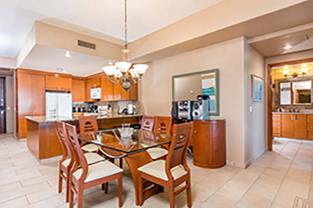 kitchen comes with appliances in this rocky point condo