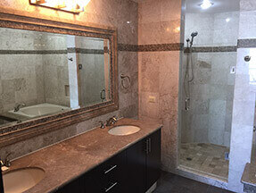 Master Bathroom Sink and Shower